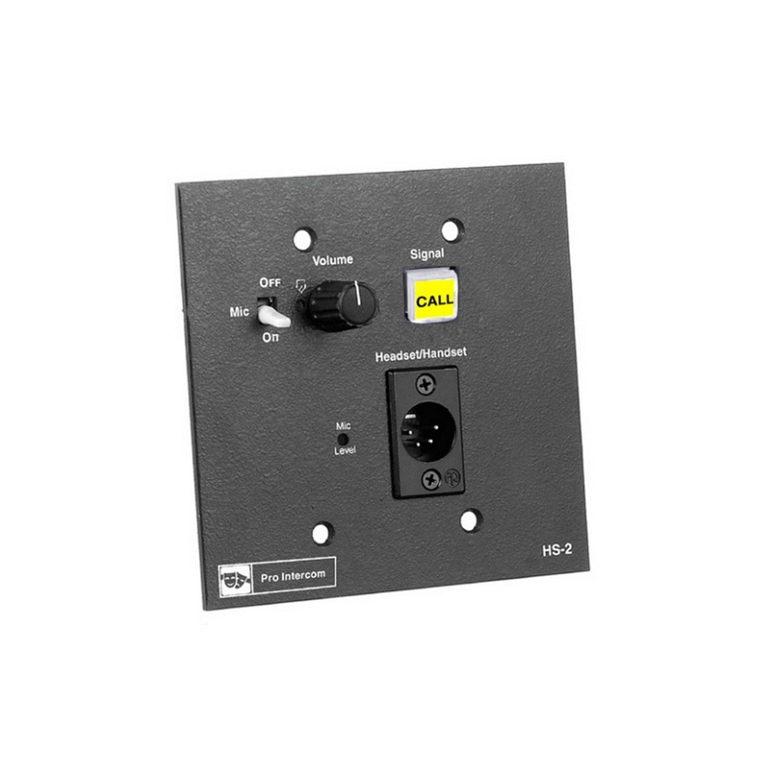 Pro Intercom HS2 | Flush Mount Headset Station by Pro Intercom