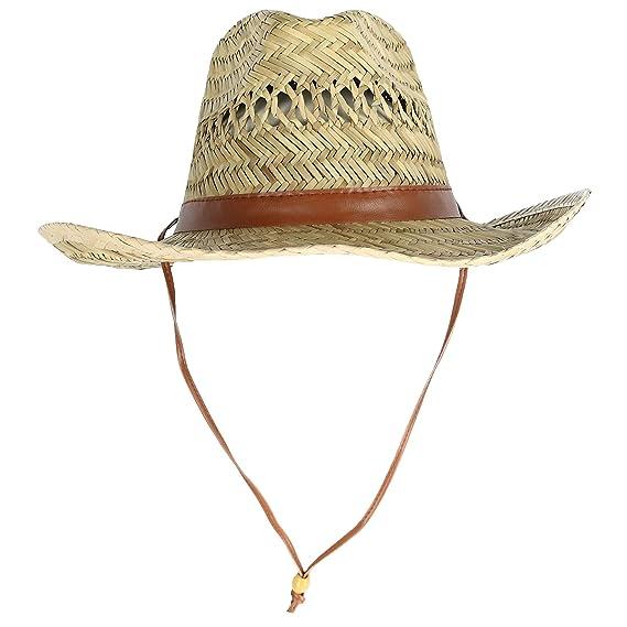 6ba4c4316ee79f Kenny K Men's Rush Straw Lightweight Safari Hat with Chin Cord, Medium,  Natural at Amazon Men's Clothing store: