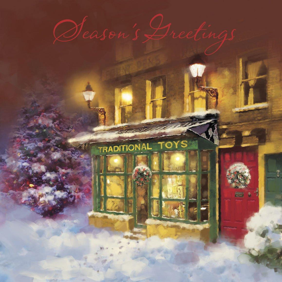Wonderful Christmas Charity Gifts Uk Part - 8: Pack Of 12 Square Vintage Scenic Charity Christmas Cards - Nostalgic Xmas:  Amazon.co.uk: Kitchen U0026 Home