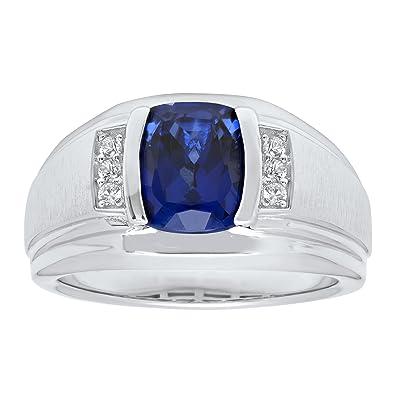 Amazon.com: Para hombre anillo – para hombre moda zafiro ...