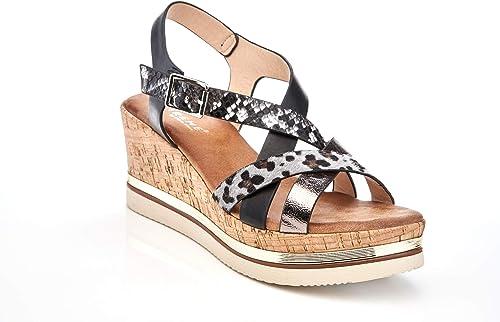 Metallic Weave Platform Wedge Sandal