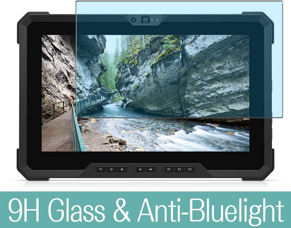 Synvy Anti Blue Light Tempered Glass Screen Protector Compatible with DELL New Latitude 12 7220 Rugged Extreme 11.6