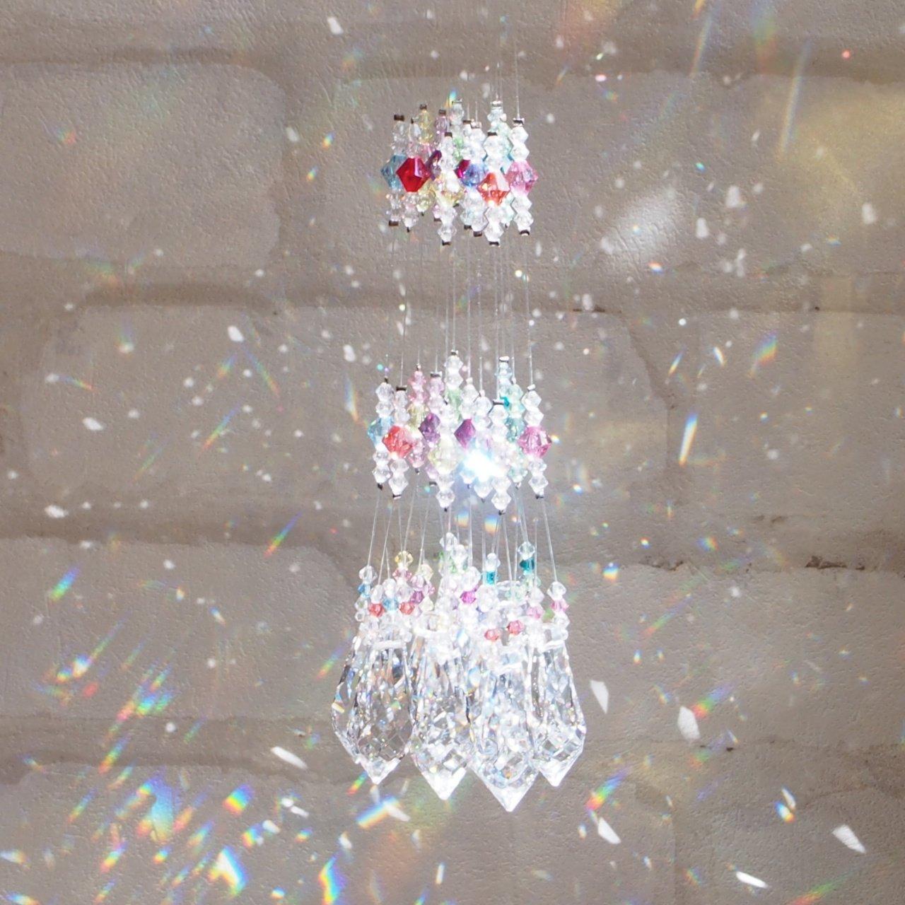 マナスペース愛 きらら☆ 純正スワロフスキー社製!ルーム用サンキャッチャー ギフトに最適☆ 光と虹 (全12色セット) B00WSC5JXG 全12色セット 全12色セット