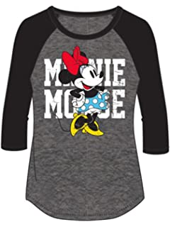 "4512d4f6 Amazon.com: Funny Threadz Womens Minnie Mouse Raglan "" Love "" Disney ..."