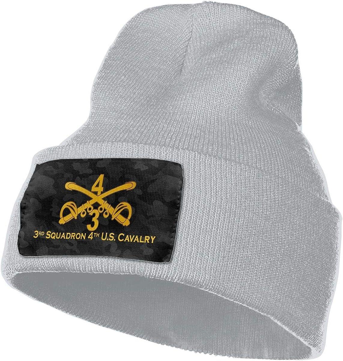 Hdadwy 3er Escuadrón 4o Caballería de EE. UU. para Hombre y para Mujer Gorro de Punto Gorro de Calavera Gorro de Invierno cálido y Suave Gorro de esquí