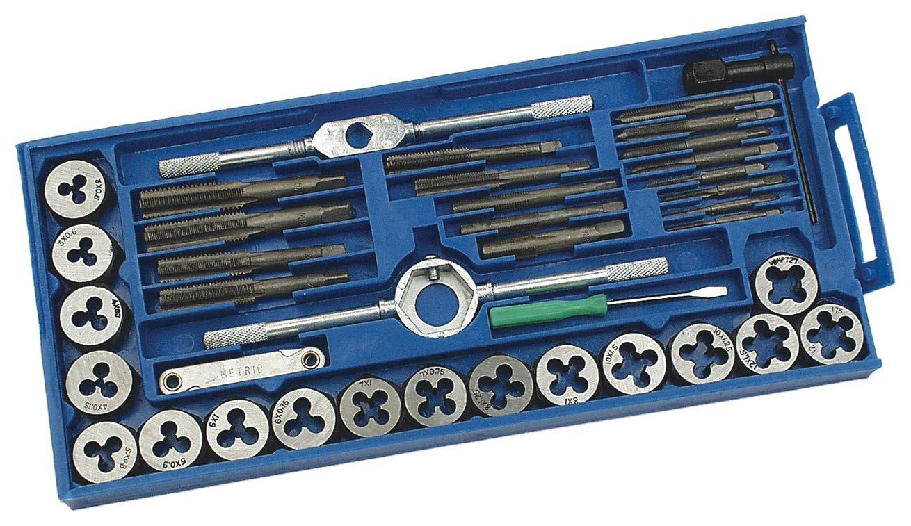 Mannesmann - M 532-40 - Juego de herramientas para roscar de 40 piezas: Amazon.es: Industria, empresas y ciencia