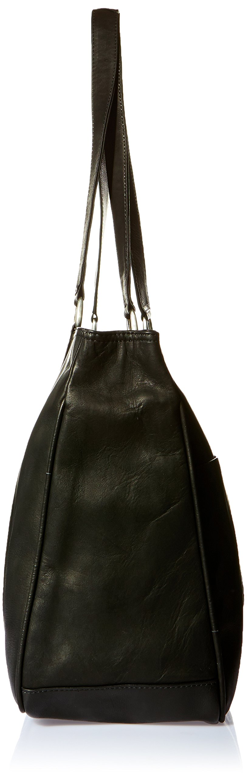 Piel Leather Large Shopping Bag, Black, One Size by Piel Leather (Image #3)