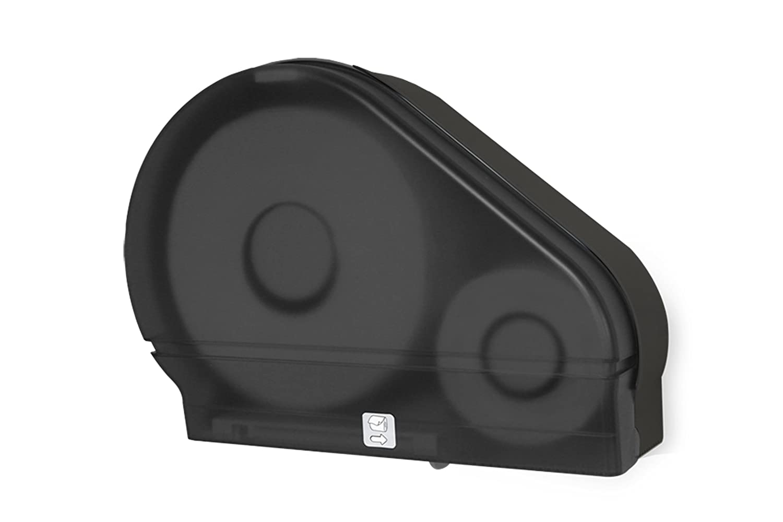 Black Translucent Palmer Fixture RD0024-02F Jumbo Roll Tissue Dispenser with Stub Roll