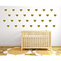 "The Vinyl Design Company Heart Confetti 27 Count - Vinyl Removable Wall Decals - 3.5""x2.5"""