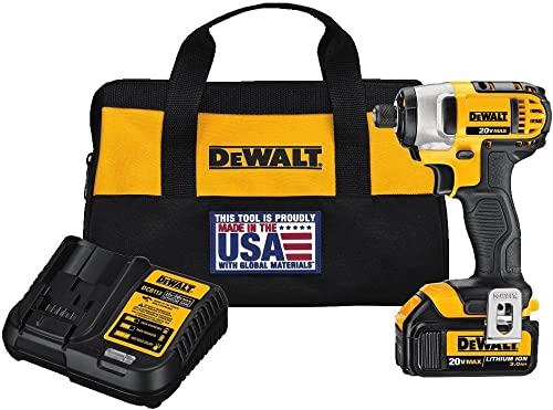 DEWALT 20V MAX Impact Driver Kit with 1 Battery, 1 4-Inch DCF885L1
