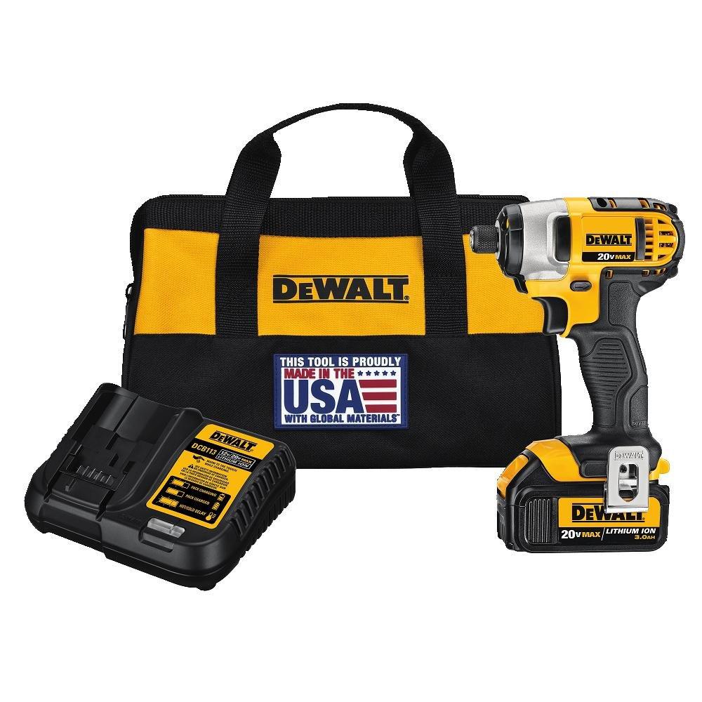 "DEWALT DCF885L1 20V MAX 1/4"" Impact Driver Kit with 1 Battery"