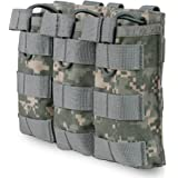Outdoor Base Tactical Triple Mag Pouch Airsoft Molle Open Top Magazine Holder