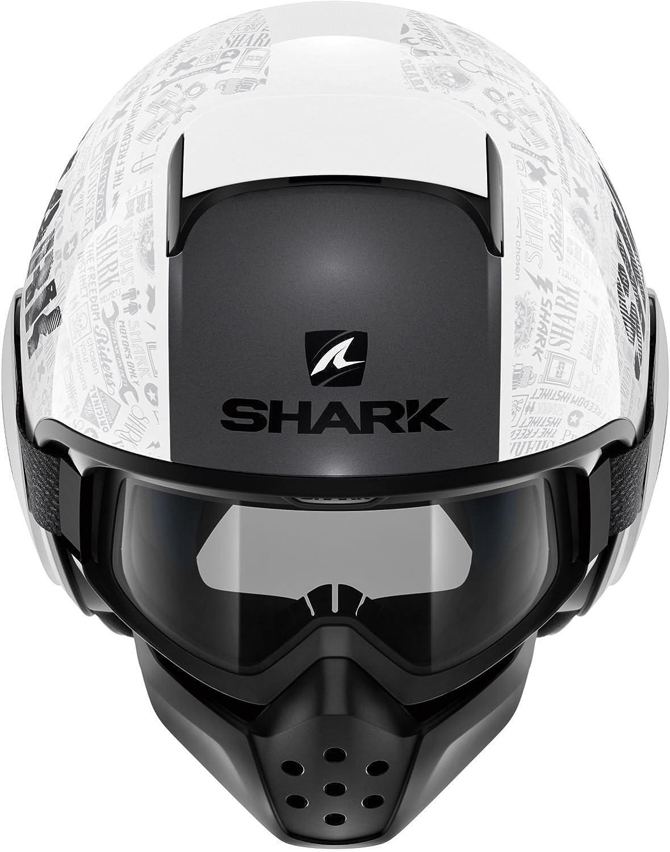 Gr/ö/ße L Shark Motorradhelm Hark Drak Tribute RM Mat Schwarz