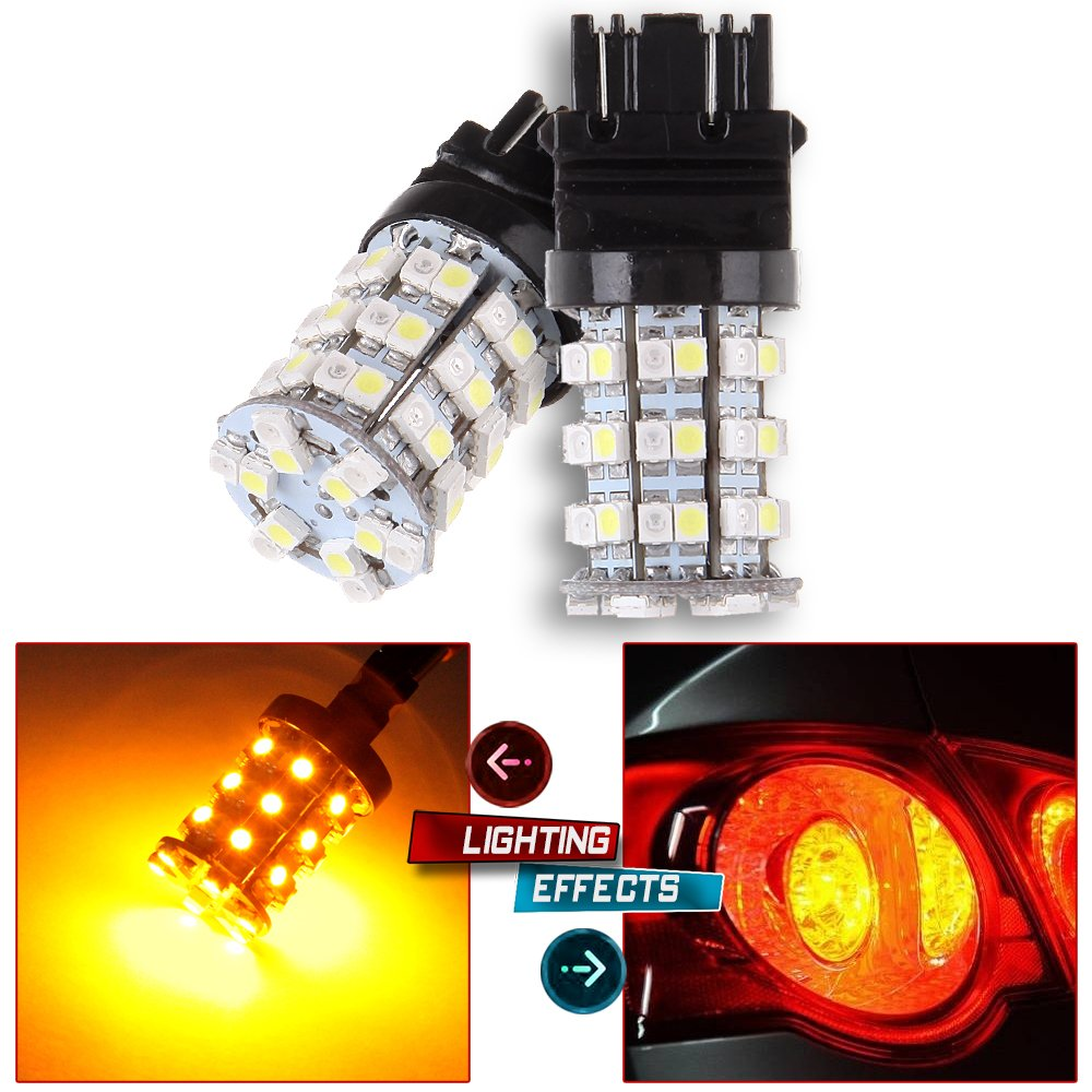 OCPTY 3157 60-2835-SMD Chipsets 4057 4114 LED Bulbs Replacement fit for Tail Brake Stop Light, 2Pack 990581-5209-1812011371