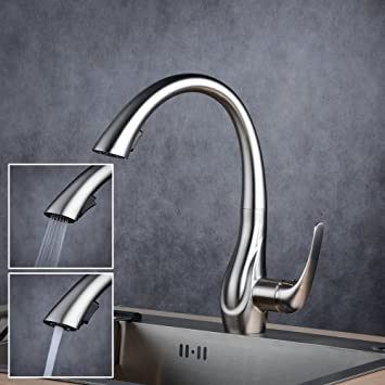 Beelee 360° drebar Wasserhahn mit Ausziehbar Brause Armatur Küche ...