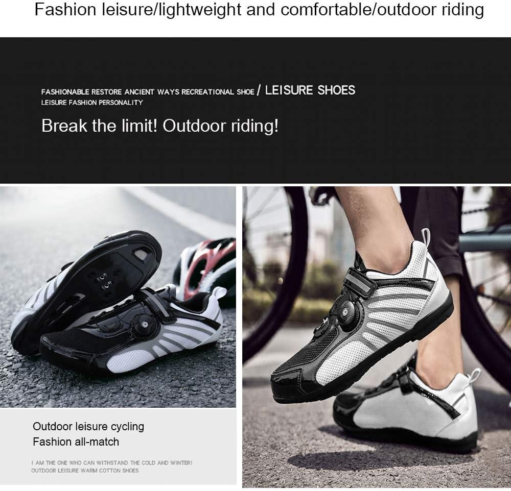 Chaussure de Cyclisme Syst/ème de Verrouillage Respirant pour V/élo de Montagne Et de Route Accessoire Support Feuille antid/érapante SPD Black-36 CHANGAN Chaussures de V/élo pour Adultes