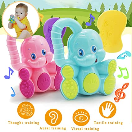 Baby Kids Toddler Teether Hand Shake Bell Ring Funny Educational Toys   A+