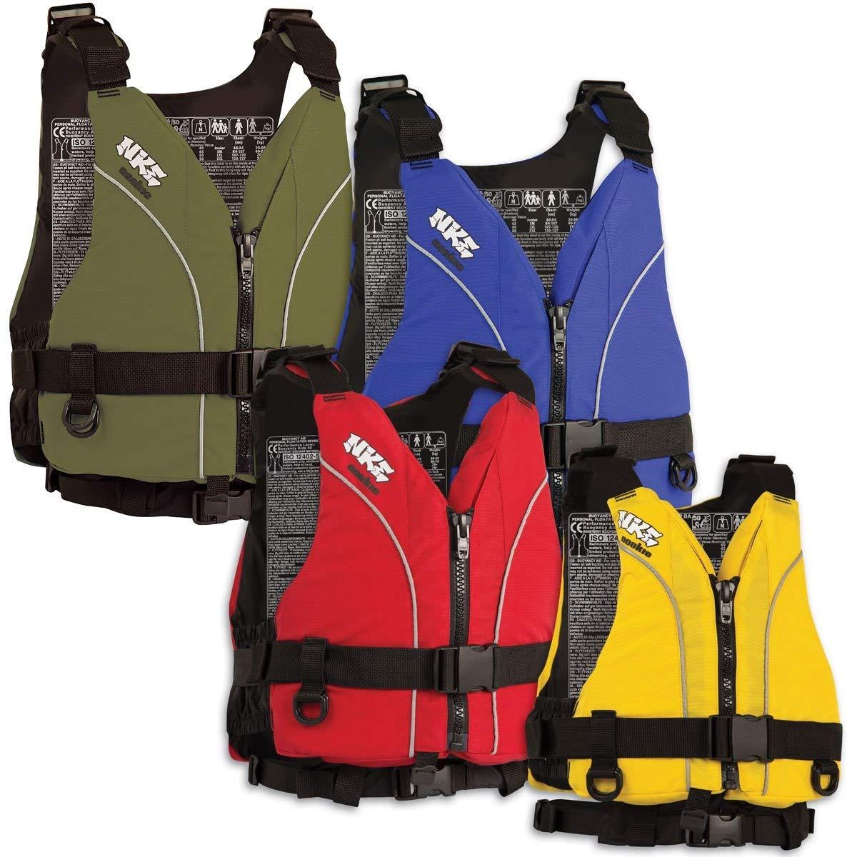 Nookie NKE Centre Zip Buoyancy Aid PFD Kayak Dinghy Sailing Canoeing OLIVE GREEN - XXL