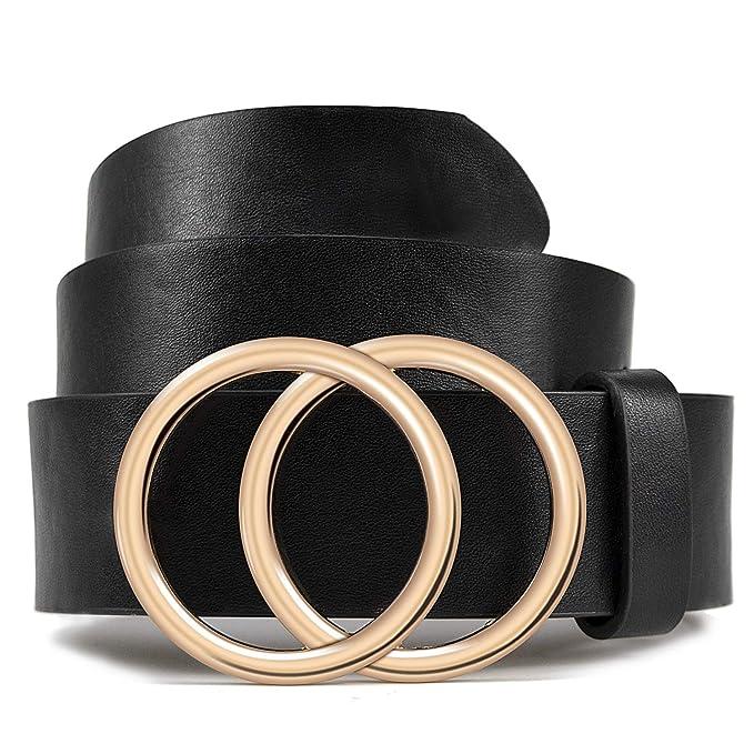Amazon.com: LOKLIK Cinturón de piel para mujer para vaqueros ...