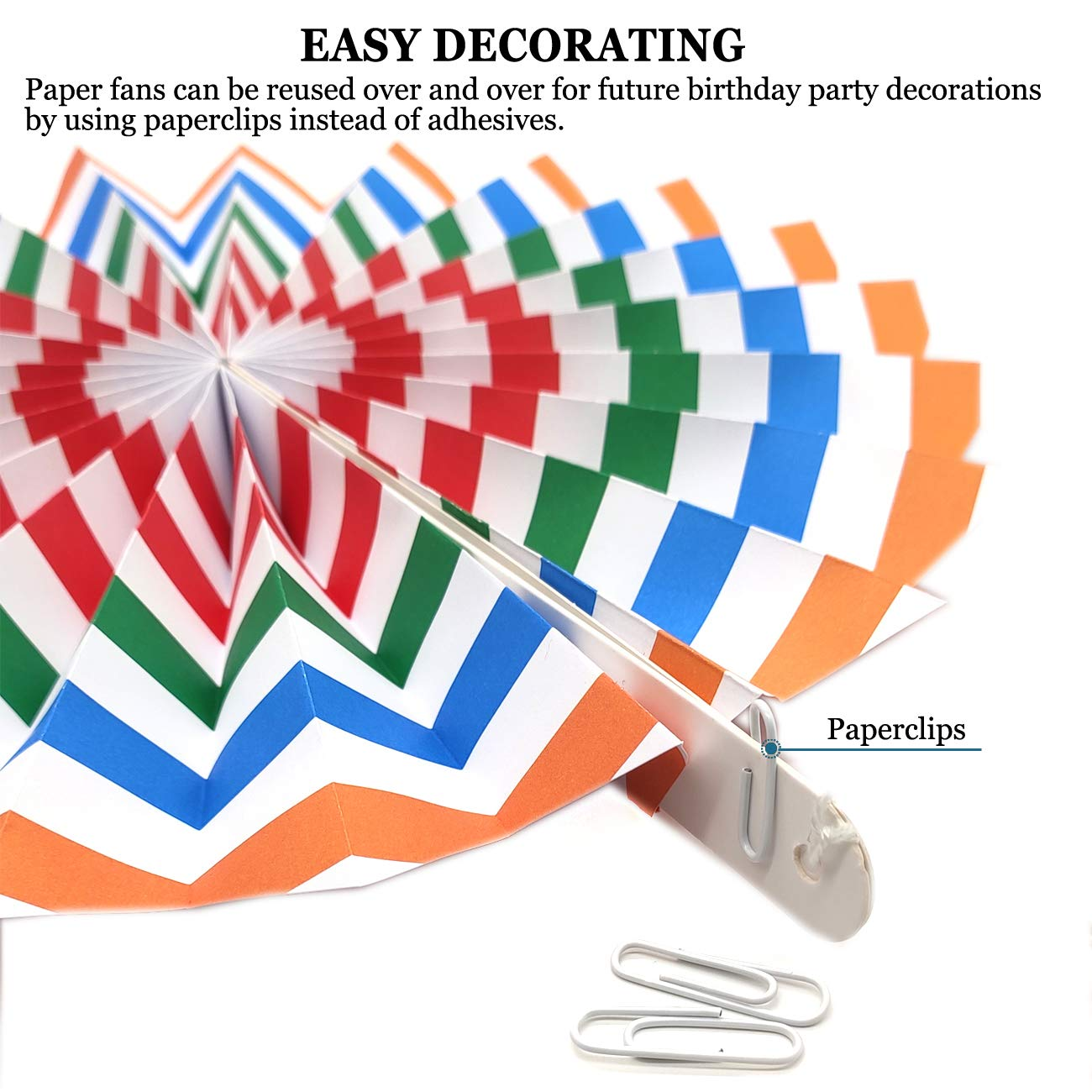 10 Pieces Hanging Paper Fans Colorful Paper Pom Poms,Tissue Paper Fan Decorations Hanging Paper for Wedding Party Baby Shower Rainbow Party Decorations Birthday Wall Decor Graduation Christmas