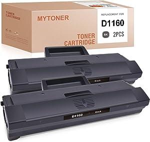 MYTONER Compatible Toner Cartridge Replacement for Dell YK1PM HF44N HF442 331-7335 1160 for B1160 B1160w B1163w B1165nfw Mono Laser Printers (Black, 2-Pack)