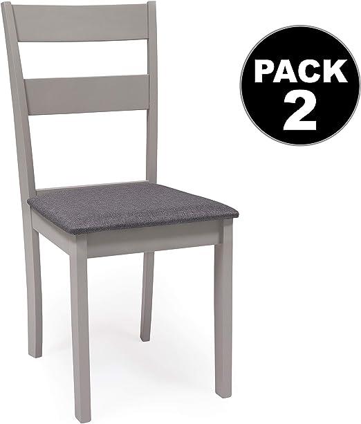 Pack de 2 sillas de Comedor o Cocina Dallas Estructura Madera ...