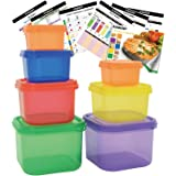 FIXBODY 7 Piece Portion Control Containers Kit Color-Coded Labeled Meal Prep Food Storage Containers,Lose Weight (COMPLETE GUIDE + FREE 21 DAY PDF PLANNER + RECIPE E-BOOK + BODY PDF TRACKER included)