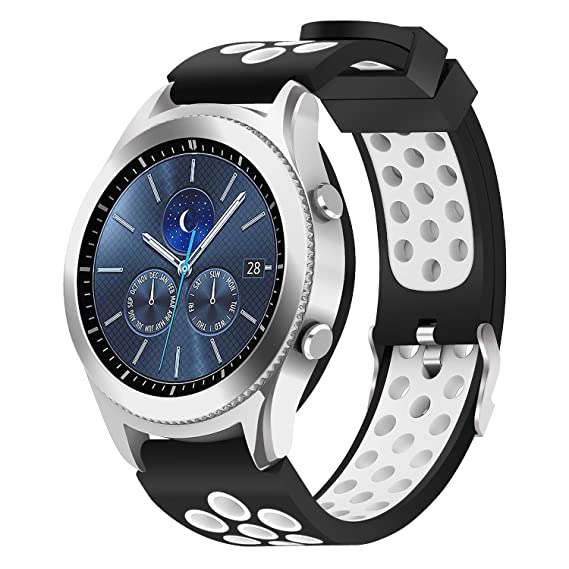 Samsung Gear S3 Frontier / Classic Watch Band,Hagibis 22mm Solid Stainless Steel Metal Business Replacement Silicon Bands for Samsung Gear S3 Frontier ...