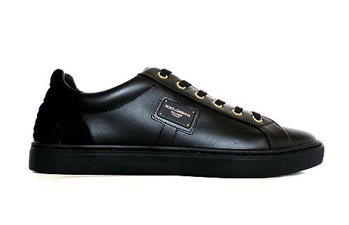 Dolce   Gabbana Sneaker Bassa London in Pelle CS1494 AB937 89850 Nero (39  EU - 9c987e3d49e