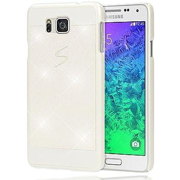 NALIA Funda Carcasa Compatible con Samsung Galaxy Alpha, Protectora Movil Purpurina Cubierta Dura Delgado Glitter Hard-Case, Telefono Bumper ...