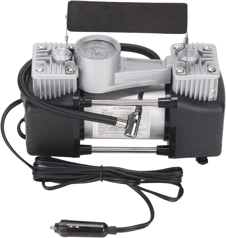 AllRight 12V Luftkompressor Luftpumpe Doppelzylinder Druckluft 150PSI mit Verl/ängerung Luft Schlauch Batterieclip f/ür Auto LKW Wohnmobil Motorrad Fahrrad