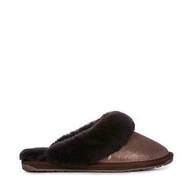 b2275a0948 EMU Australia Womens Slippers Jolie Metallic Sheepskin Slipper Size 5