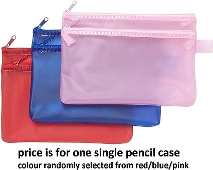 Tiger – Estuche para lápices – diseño de color brillante 2-Zip x1 único: Amazon.es: Oficina y papelería