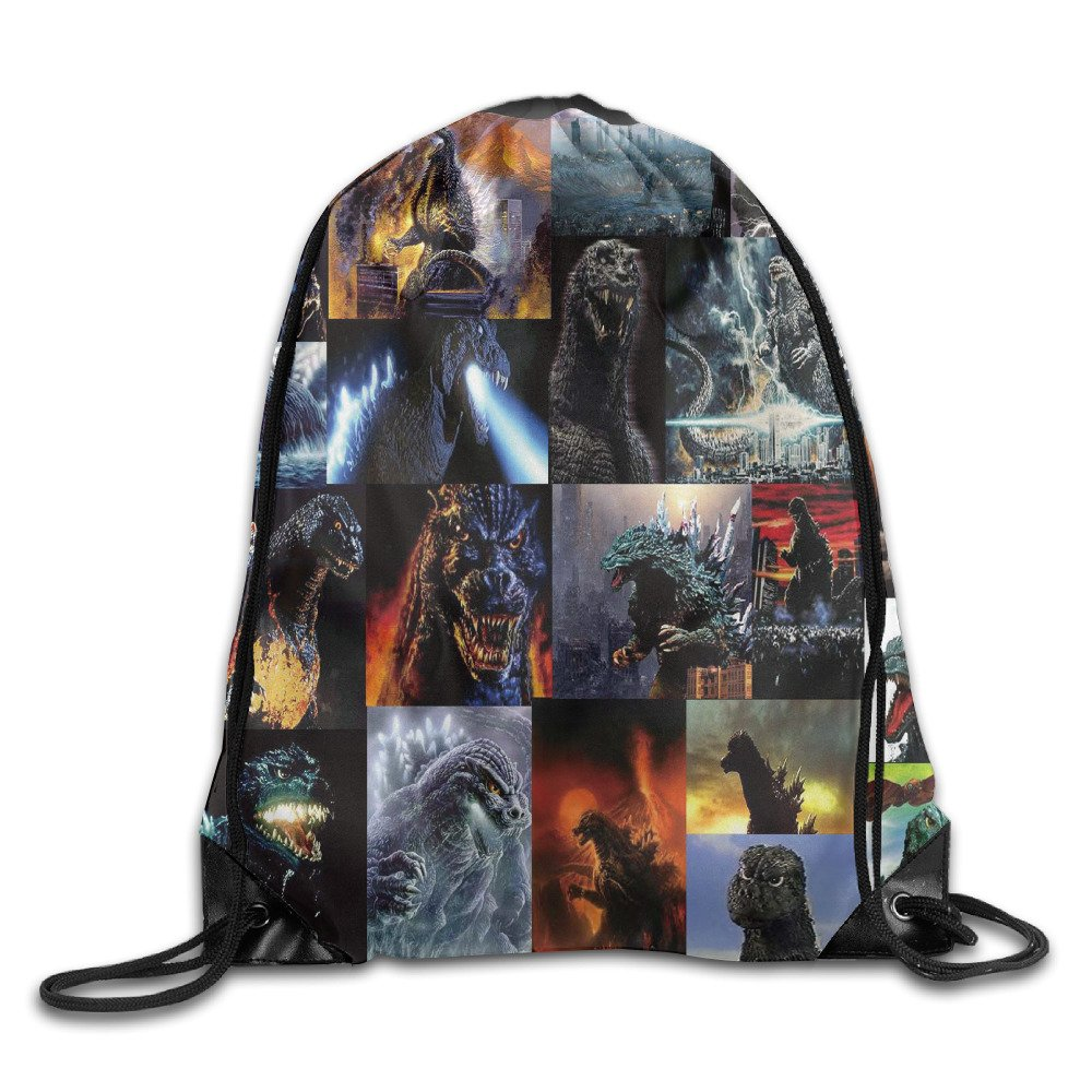 Godzilla Fire Nylon Backpack Bag Home Travel Sport Storage