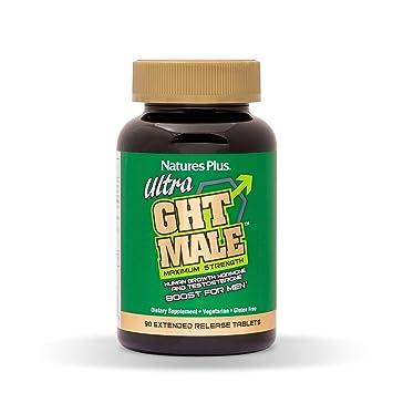 NaturesPlus Ultra GHT Male Extended Release Bilayer Tablets - 90 Vegetarian  Supplements -