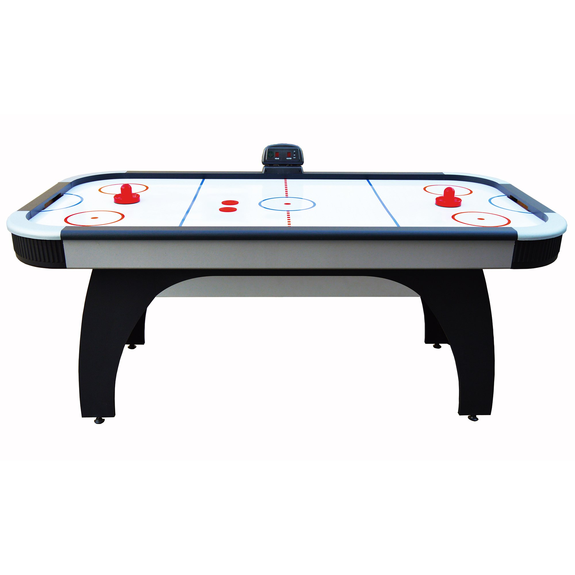 Hathaway Silverstreak 6-Foot Air Hockey Game Table for Family Game Rooms with Electronic Scoring, Black by Hathaway (Image #3)