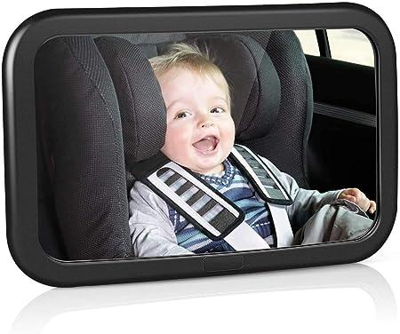 Schwarz + Blau FACIACC R/ücksitzspiegel Baby Autospiegel Safe Acryl Bruchsicherer Kinderspiegel R/ückspiegel mit 360 /° Drehung zur /Überwachung Ihres Babys
