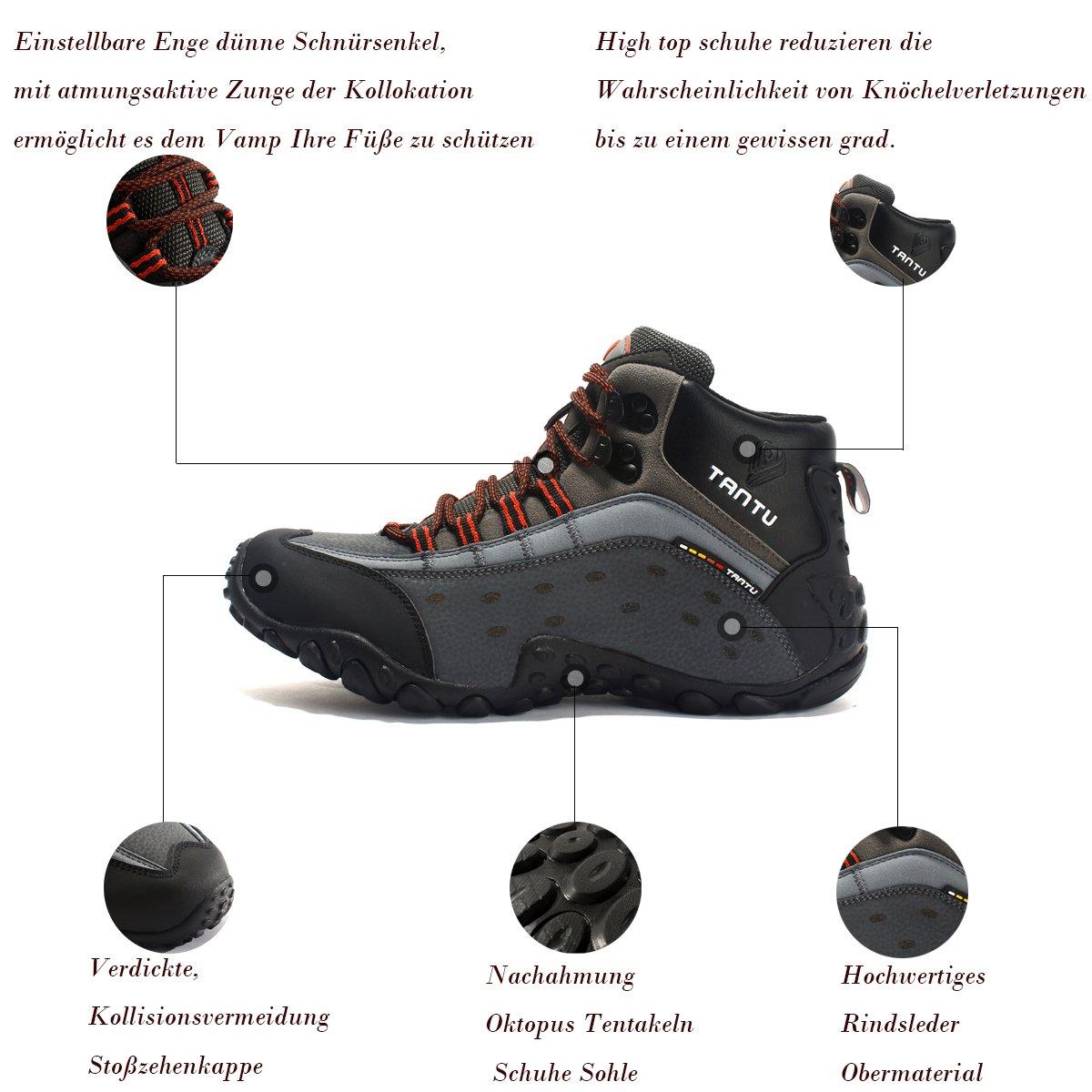 Herren Wanderschuhe Wanderschuhe Wanderschuhe Stiefel Männer Sportschuhe Outdoor Trekking Schuhe High Wanderstiefel Hike Outdoorschuhe Wanderhalbschuhe 636d39