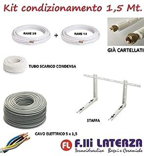 Kit Instalación Montaje Split hasta 3000Fr Tubos Cobre 1/4-3/8 3MT + Soporte Pared + 4 silemblock: Amazon.es: Hogar
