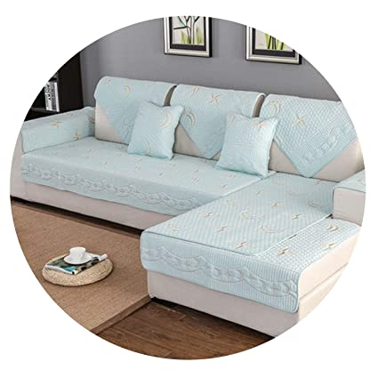 Amazon.com: Star Moon Embroidery Quilted Cotton sectional ...