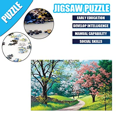 1000 Piece Jigsaw Puzzle Puzzle Toy Landscape Pattern for Adult Children by QIQIU: Toys & Games