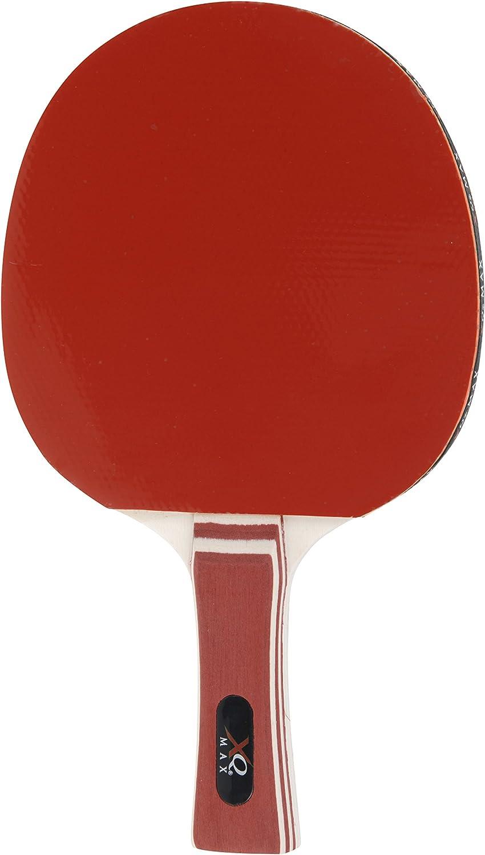 XQ Max Unisex Adult Table Tennis Bat Level 5.0 Table Tennis Bat Level 5.0 Red.