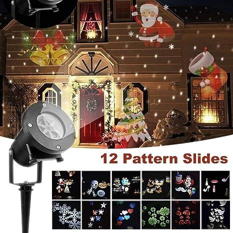 christmas projector lights12 pcs slides outdoor projection lightswaterproof landscape led lamp for - Christmas Projector Outdoor