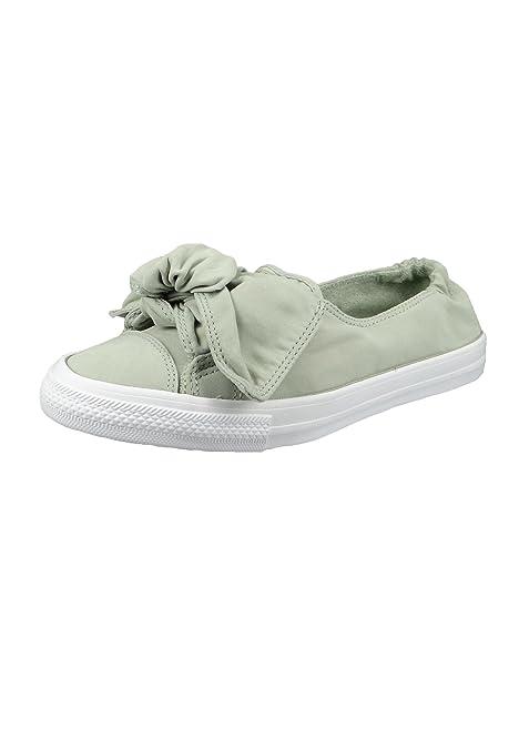 Converse 560663C - Mocasines de Tela para Mujer Gris Surplus Sage, Color Verde, Talla 36 EU: Amazon.es: Zapatos y complementos