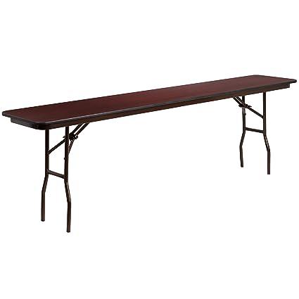 Amazoncom Flash Furniture X Rectangular Mahogany - 18 x 96 training table