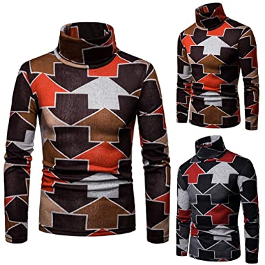 013cf048770 TaLs9yLI Sweaters for Men Colorful Arrow Print Winter High Neck Long Sleeve Jumper  Men Slim Pullover