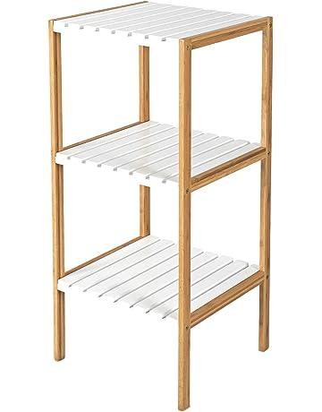 Bambú Accesorio de 3 estantes para baño Hallways – Ideal de almacenamiento  toalla de zapato de b04427afced7