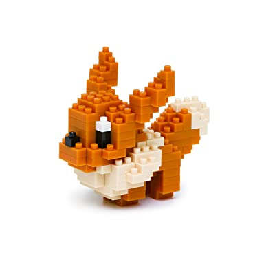 Nanoblock Eevee Pocket Monsters + Gift Tweezers Plastic Cube Building Blocks (Smartoys): Toys & Games