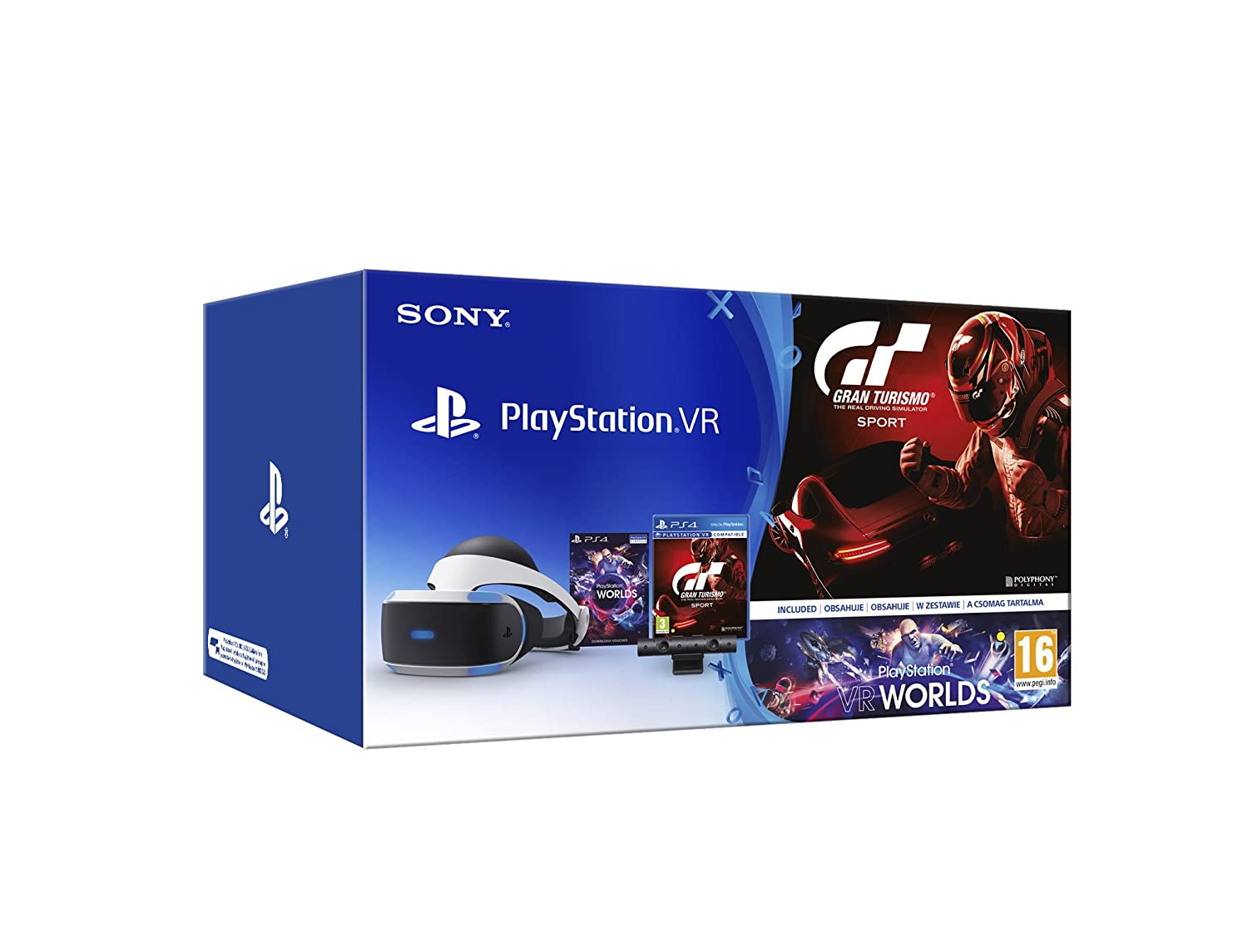 Sony - PlayStation VR + Cámara + Worlds + Gran Turismo Sport (PS4 ...