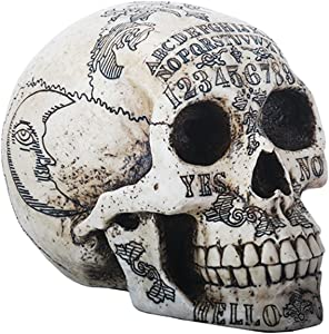 SUMMIT COLLECTION Paranormal Skull Head with Ouija Symbols Collectible Figurine